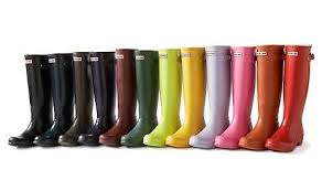 Multi coloured wellies