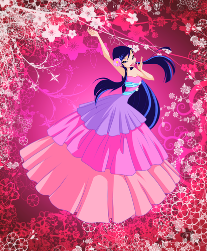 Winx Club hình nền possibly with a parasol called Musa
