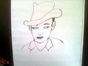 My drawing of Boy George