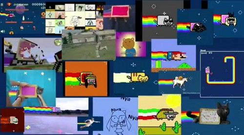 Nyan Cat karatasi la kupamba ukuta called Nyan. Nyan everywhere!
