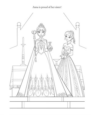 Official La Reine des Neiges Illustration - Elsa and Anna