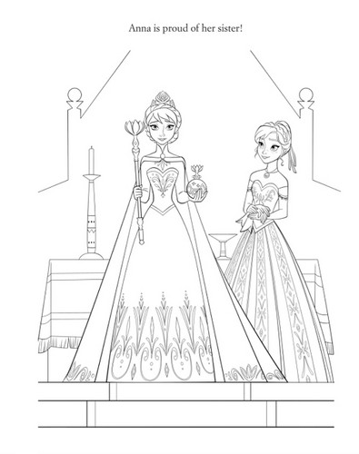 Frozen kertas dinding entitled Official Frozen Illustration - Elsa and Anna