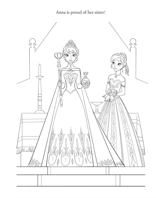 Official फ्रोज़न Illustration - Elsa and Anna
