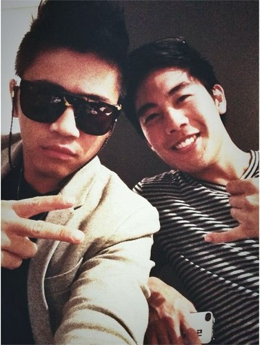 Nigahiga پیپر وال probably containing sunglasses titled Peter Chao and Ryan Higa