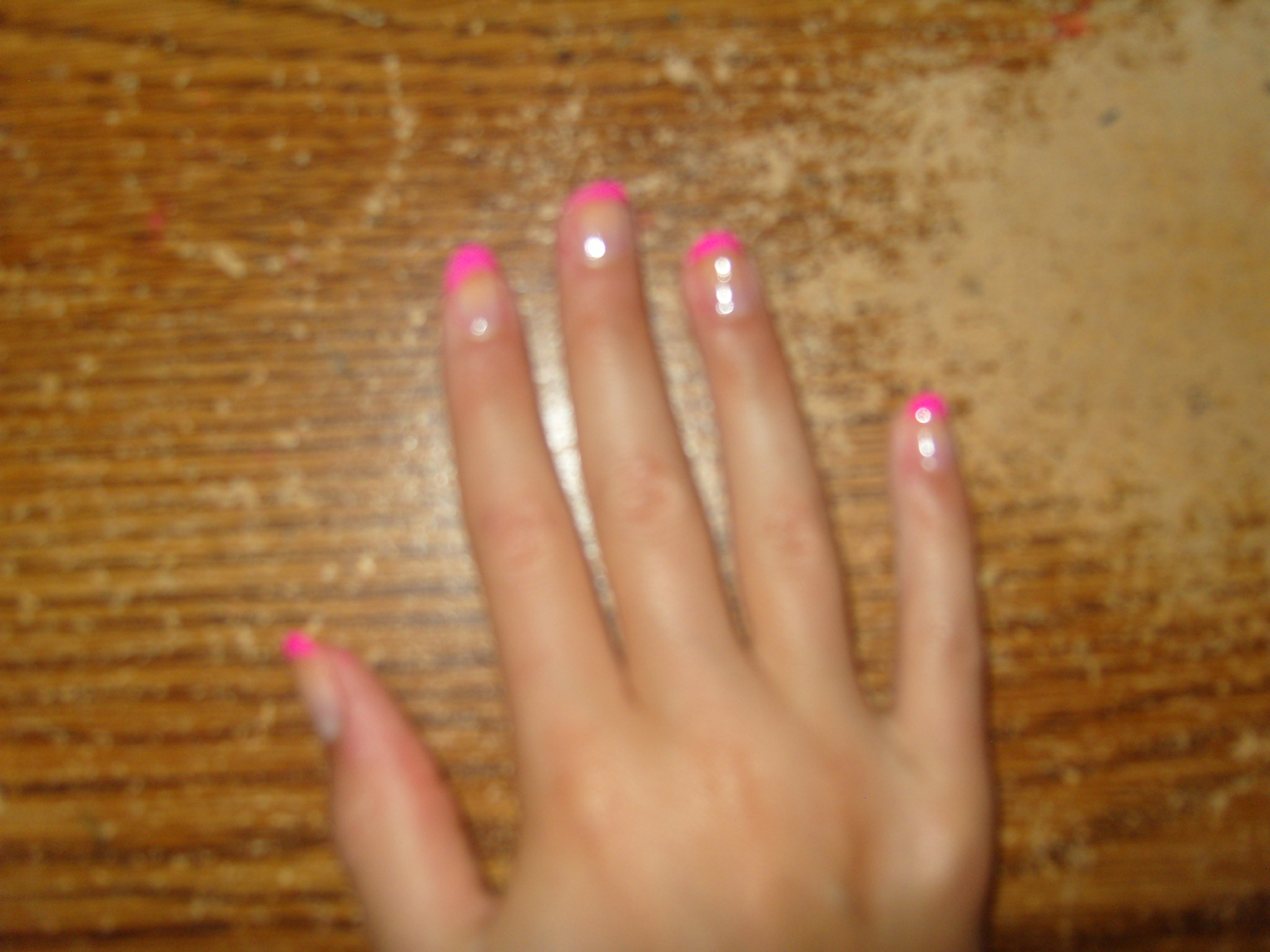 Pink French Nail Tips Images & Pictures - Becuo
