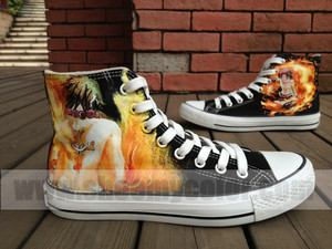 Portgas D. Ace hand painted shoes