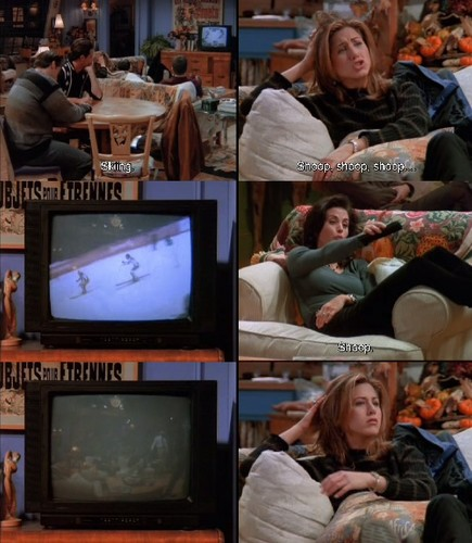 Rachel Green wallpaper containing a television receiver titled Rachel
