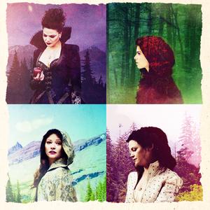 Regina, Snow, Belle & Red