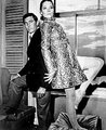 Rigg and Lazenby - OHMSS bts photos - diana-rigg photo