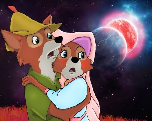Walt Disney's Robin Hood wallpaper entitled Robin & Marian
