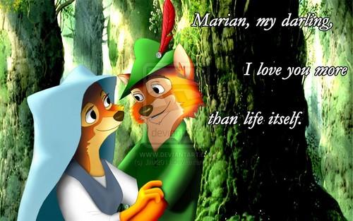 Walt Disney's Robin Hood wallpaper called Robin & Marian