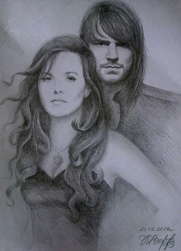 The Vampire Academy Blood Sisters Hintergrund titled Romitri drawing