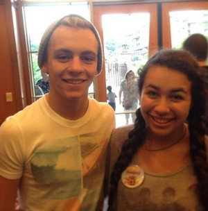 Ross with fans