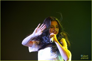 Selena performing on her Stars Dance Tour (Amsterdam)