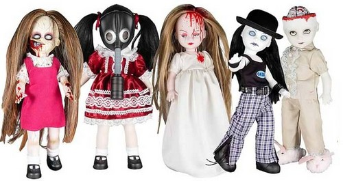 Living Dead Dolls پیپر وال probably with a surcoat, سورکوت and a کاک, کاکٹیل dress called Series 9