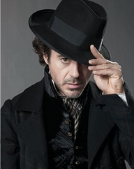 Robert Downey Jr. wallpaper with a fedora, a snap brim hat, and a campaign hat called Sherlock Holmes-my favorite character of rdj