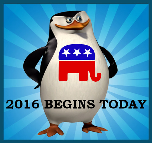 U.S. Republican Party 壁纸 titled Skipper the Penguin: 2016 Begins Today