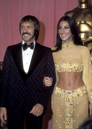 Sonny And Cher Backstage At The 1973 Academy Awards