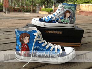 Spirited Away 컨버스 hand painted shoes
