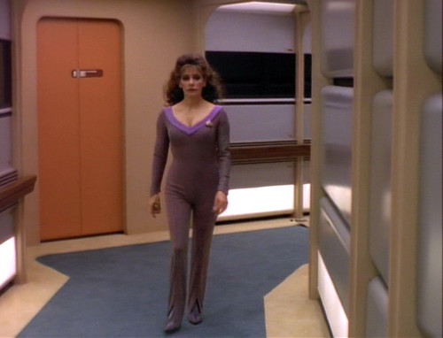 Marina Sirtis wallpaper containing a leotard and tights called Star Trek: The Next Generation