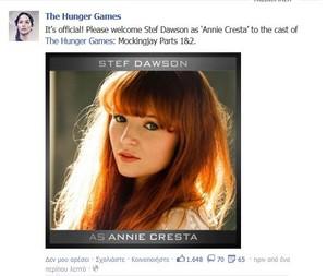 Stef Dawson cast as Annie Cresta