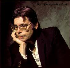 Stephen King achtergrond with a business suit titled Stephen KIng