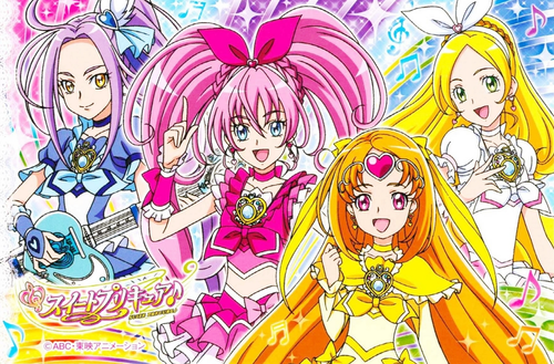 pretty cure wallpaper containing anime entitled Suite Precure