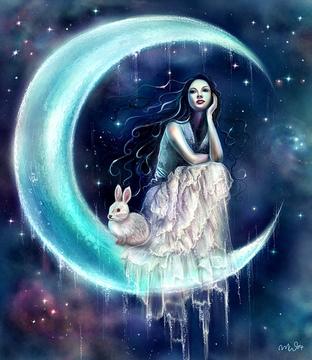 Moon Rabbit & Moon Goddess