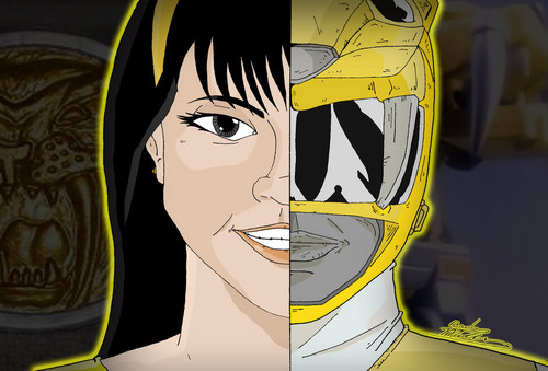 Mighty Morphin Power Rangers wallpaper probably with anime titled Trini Kwan Yellow Ranger