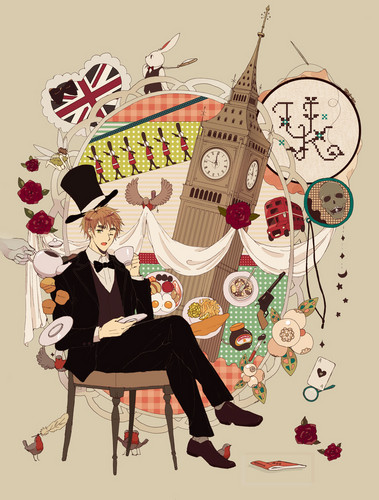 Hetalia: England wallpaper probably with a sign, a dinner table, and a street called UK