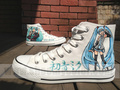 Vocaloid canvas shoes hand painted sneaker - vocaloid fan art