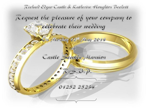 Castle wallpaper called Wedding Invitation