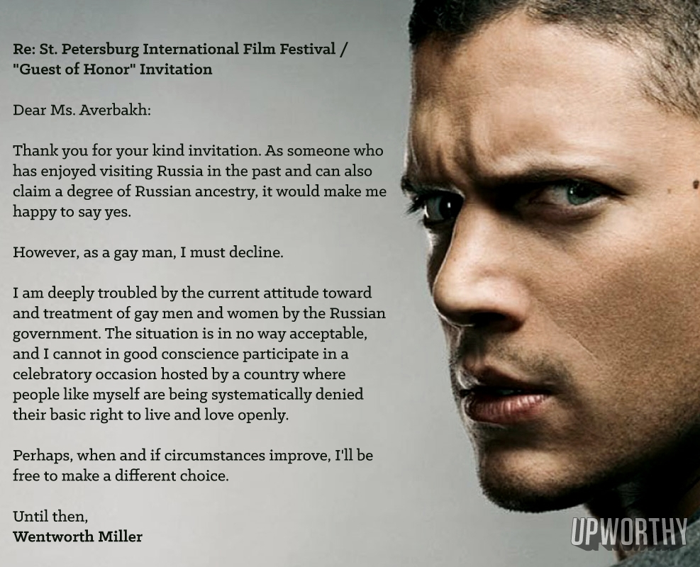 Wentworth miller is gay