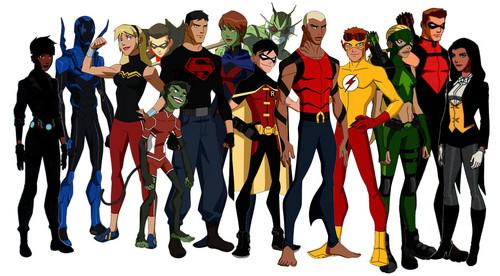 Teen Titans vs. Young Justice fond d'écran called La Ligue des Justiciers – Nouvelle Génération