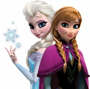 anna and elsa wearing makeup