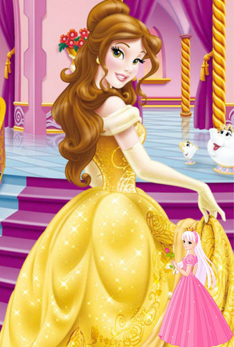 Princess Belle wallpaper with a bouquet titled beauty and the beast