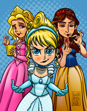 big bang theory_princess posse