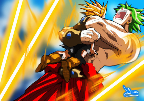 Broly The Legendary Super Saiyan wallpaper containing anime titled broly and kid trunks