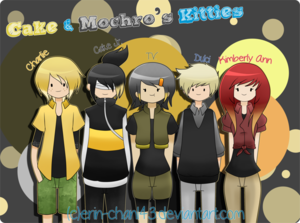 cake and mochro's humanized kitties