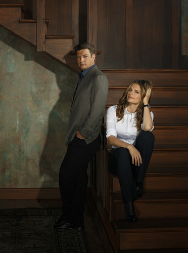 Castle wallpaper containing a business suit and a well dressed person entitled castle cast / season 6