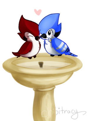 chibi mordecai and margaret