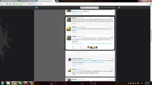 conversation between me and Nargis Fakhri on Twitter