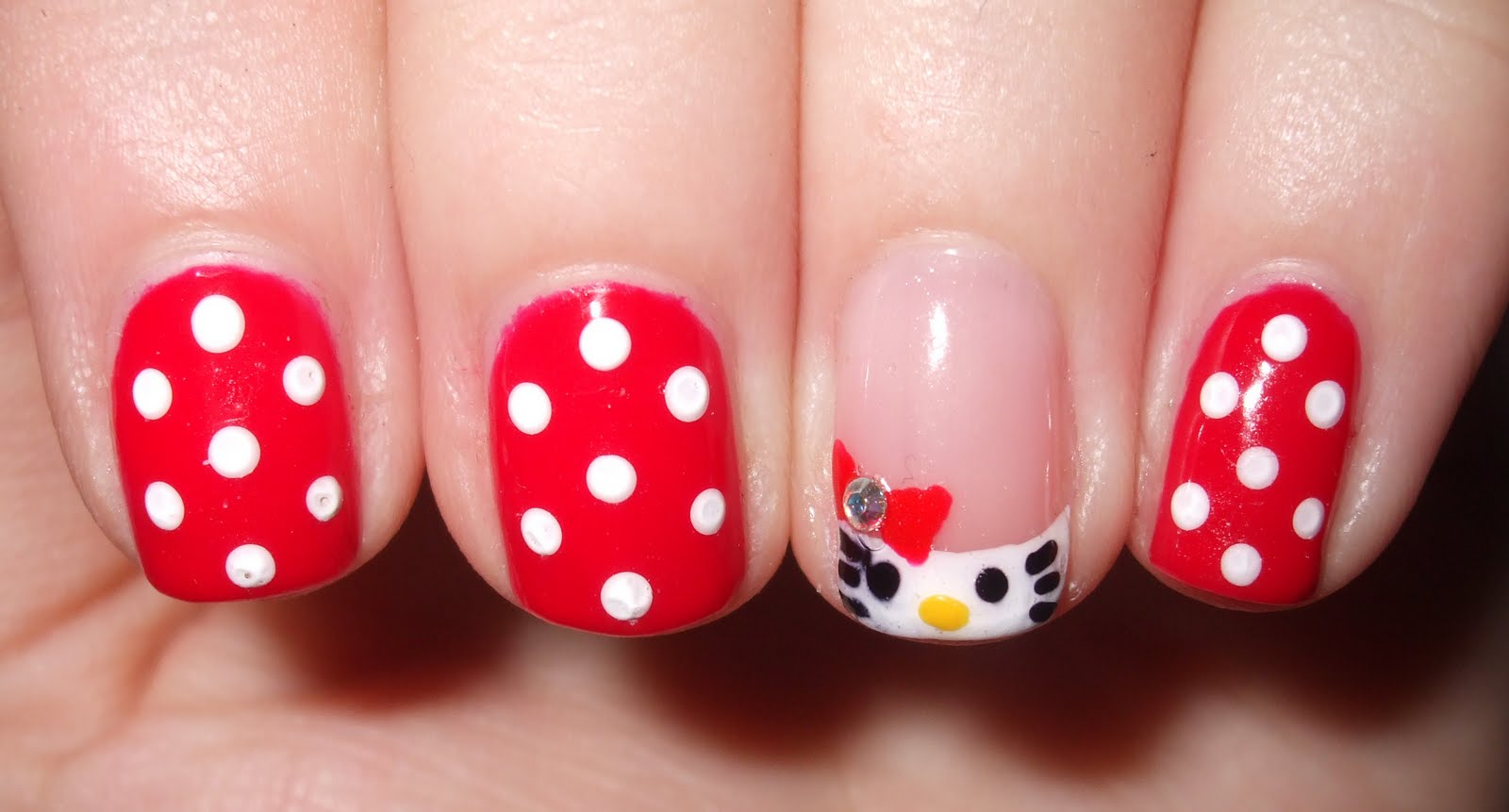 Hello Kitty Images Cute Nail Art Hd Wallpaper And Background Photos