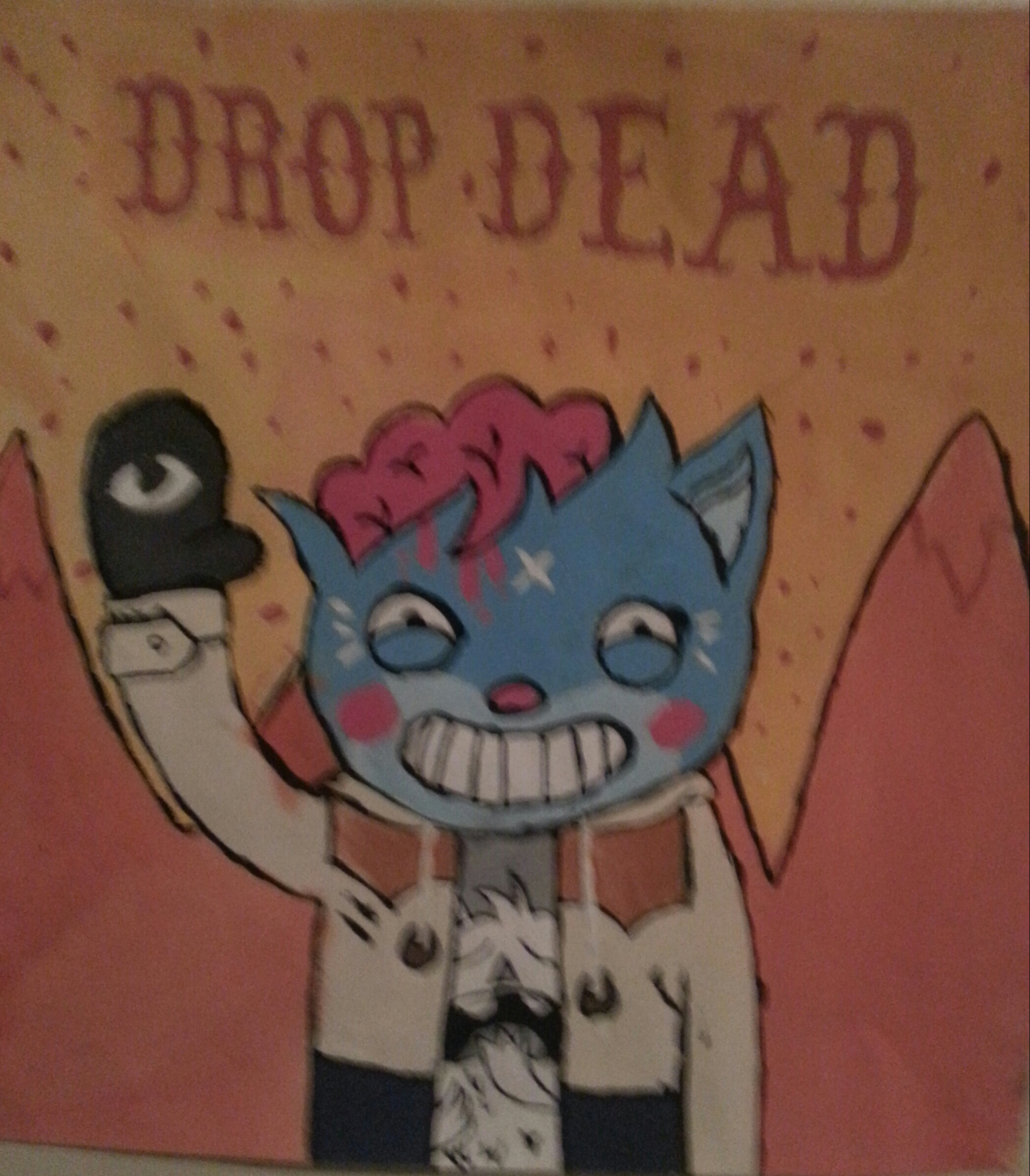 Dropdead Images Drop Dead Cat Painting Hd Wallpaper And Background