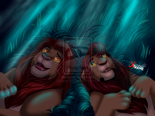 The Lion King 2:Simba's Pride wallpaper possibly containing anime titled father and son
