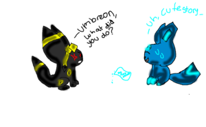glaceon and umbreon