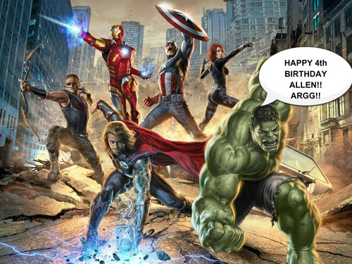 The Avengers wallpaper containing anime called happy birthday
