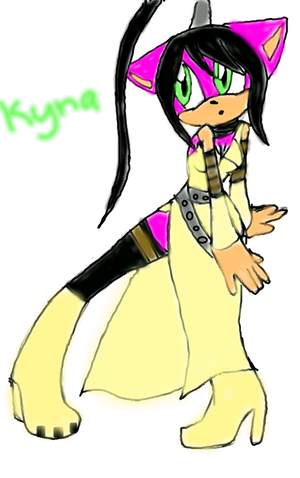 kyna cosplaying as tsubaki from soul eater