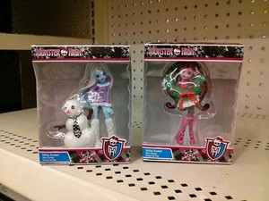 monster high Krismas ornaments