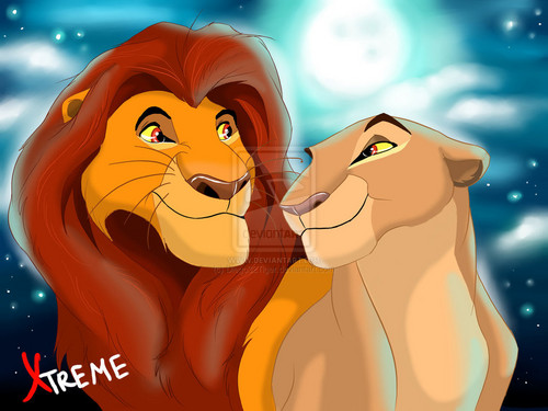 The Lion King 2:Simba's Pride wallpaper possibly containing anime called mufasa and sarabi in youth